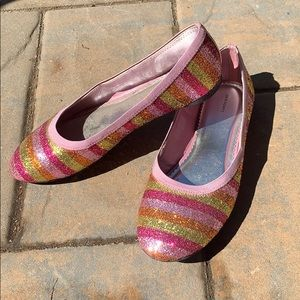 Lands end Sequined Shoes